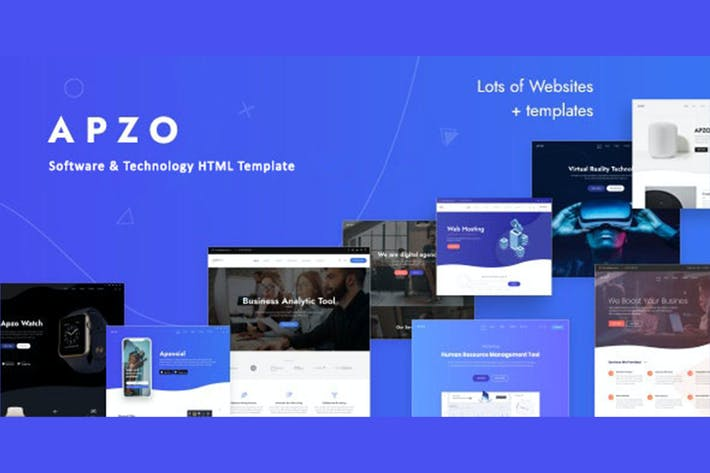Thumbnail for Apzo - Software App HTML Template