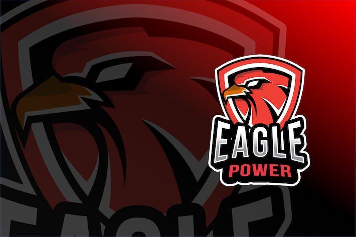 Thumbnail for Eagle Power Esport Logo Template