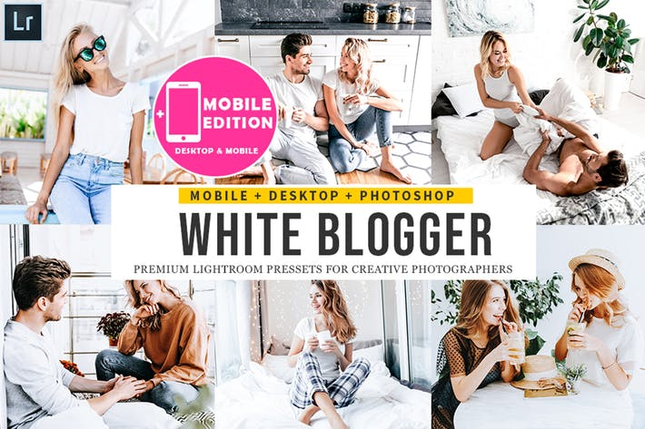 Thumbnail for White Blogger Lightroom Presets
