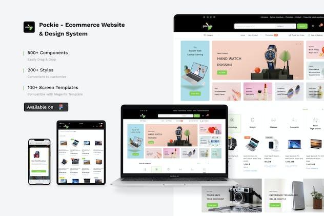 Pockie Ecommerce Website Design System