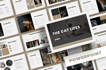 The Cat Lifes - Powerpoint Template