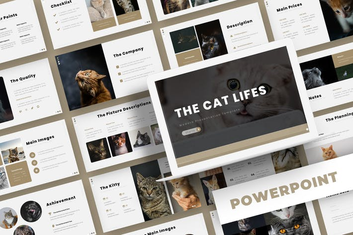 Thumbnail for The Cat Lifes - Powerpoint Template