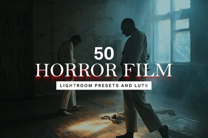 Thumbnail for 50 Horror Film Lightroom Presets and LUTs