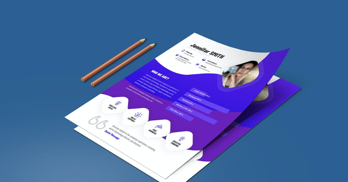 Download Creative Resume & CV Template by Unknow