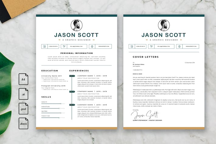 Thumbnail for Professional CV And Resume Template Jason Scott