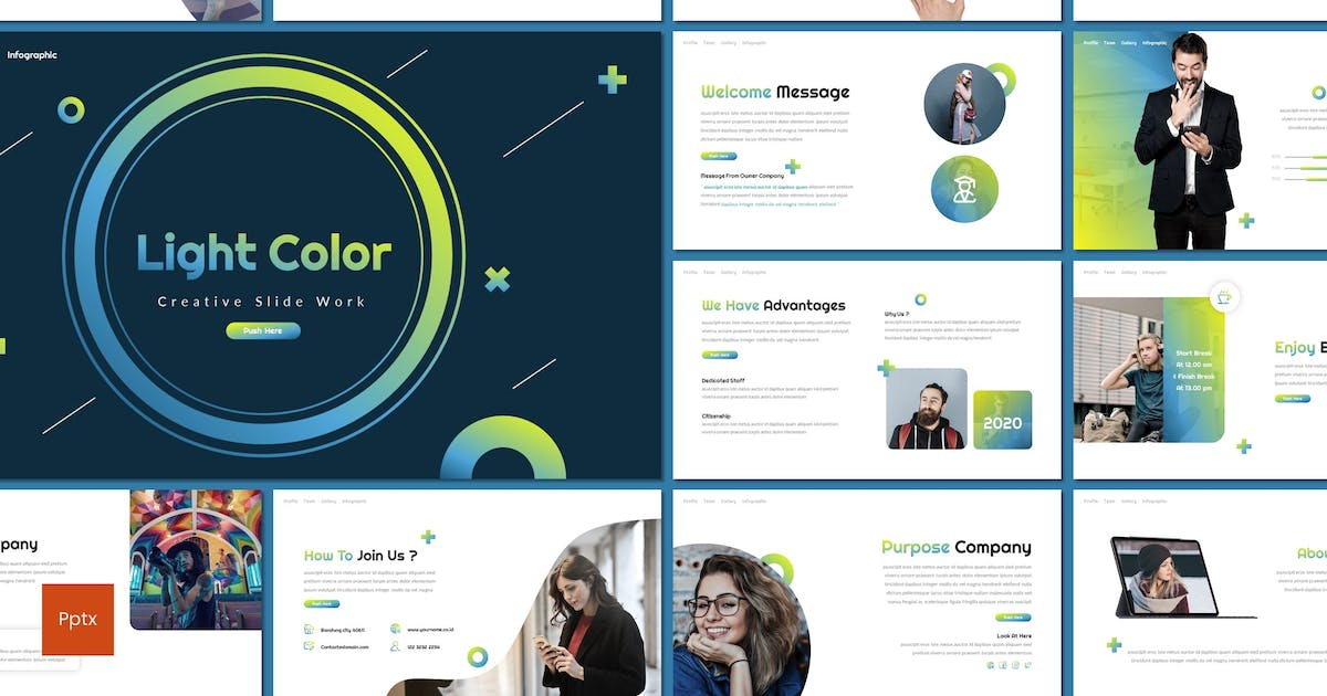 Download Light Color - Creative Powerpoint Template by inspirasign