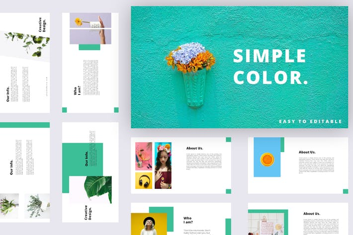 Thumbnail for Simple Color - Powerpoint Template