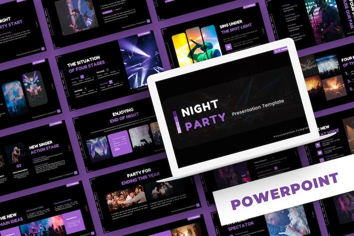 Ночная вечеринка - Шаблон Powerpoint