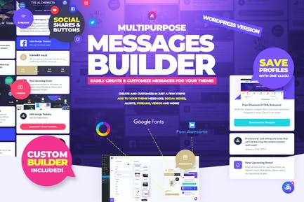 Multipurpose Messages and Social Share Builder