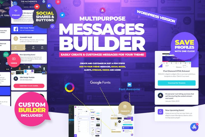 Thumbnail for Multipurpose Messages and Social Share Builder