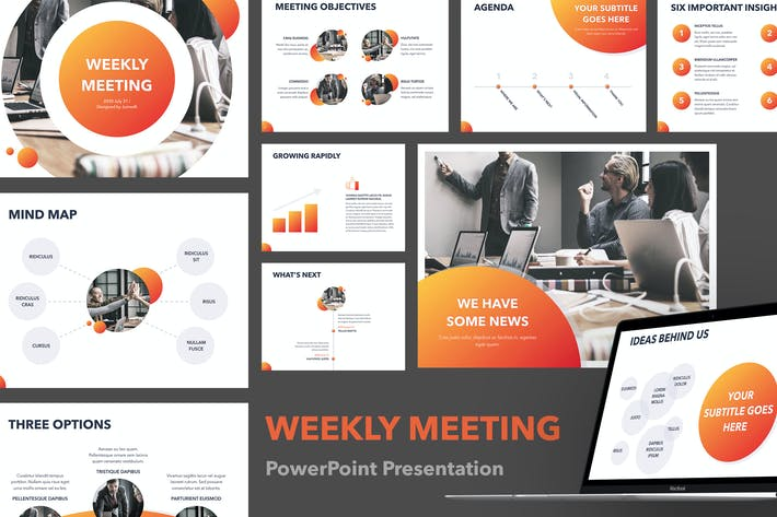 Thumbnail for Weekly Meeting PowerPoint Template