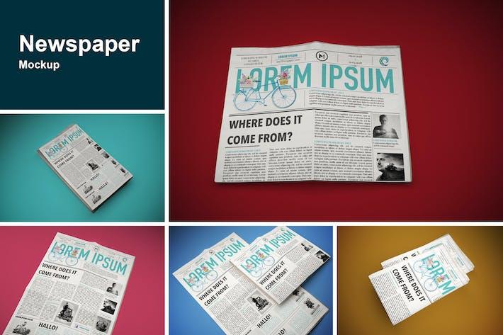 Thumbnail for Newspaper Mockup