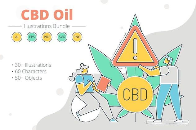 Marijuana Oil Vector Illustration