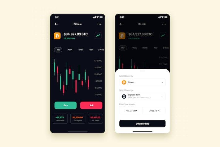 Thumbnail for Crypto Exchange Mobile App UI Kit