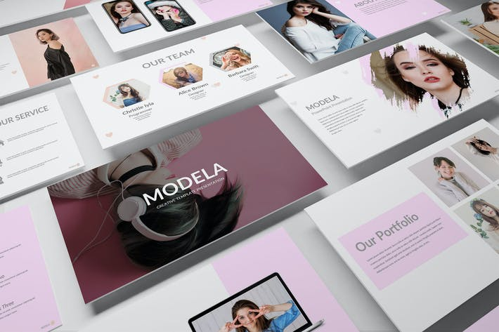Thumbnail for МОДЕЛА — Творческий бизнес-PowerPoint Шаблон