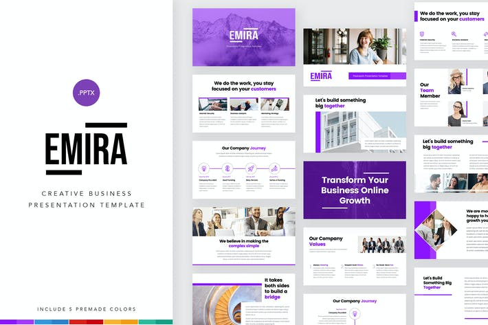 Thumbnail for Emira - Творческая деловая компания PowerPoint