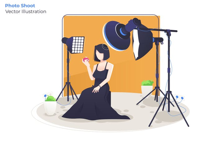 Thumbnail for Photo Shoot - Vector Illustration