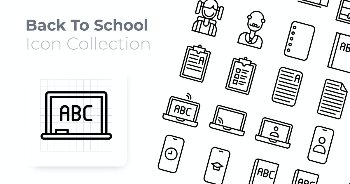 Download Back To School Outline Icon by GoodWare_Std