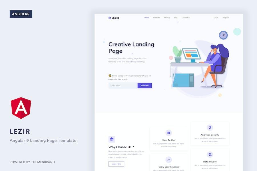 Lezir - Angular 9 Landing Page Template