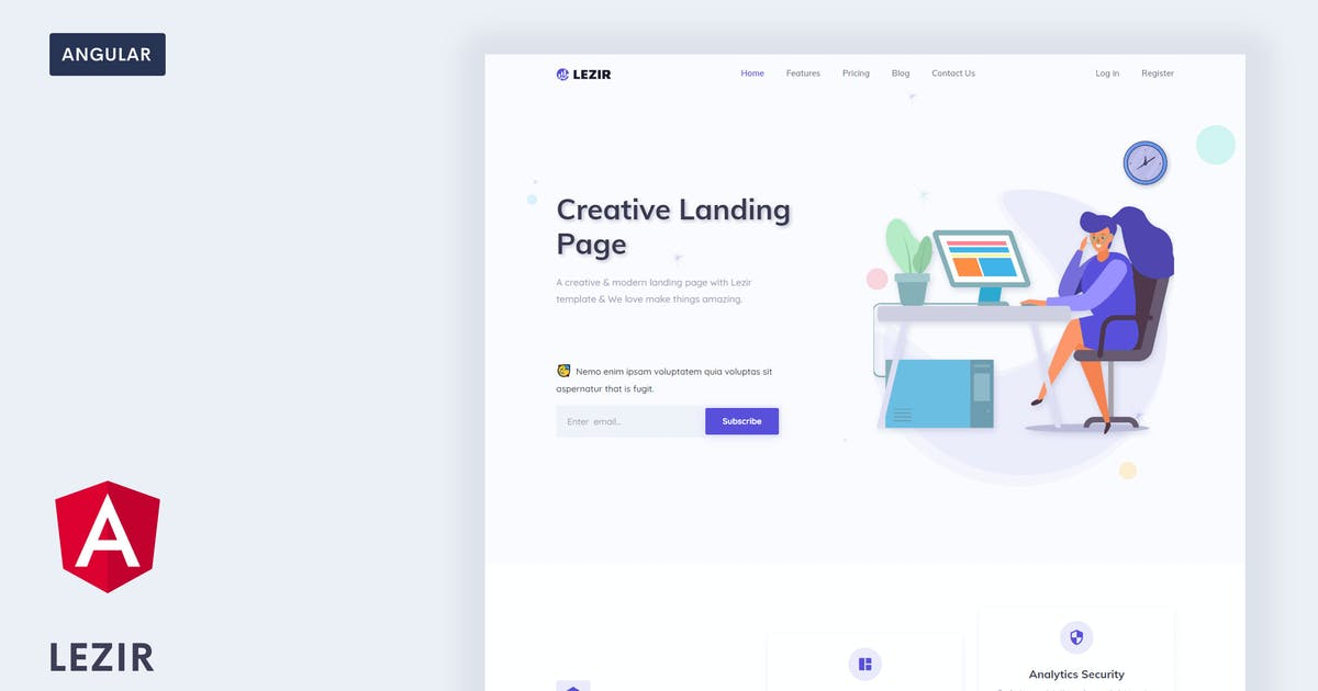Download Lezir - Angular 9 Landing Page Template by Themesbrand