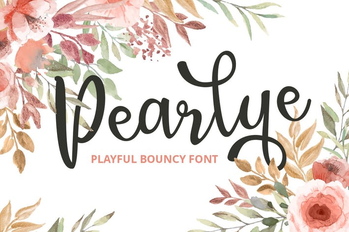 Thumbnail for Pearlye - Playful Bouncy Font