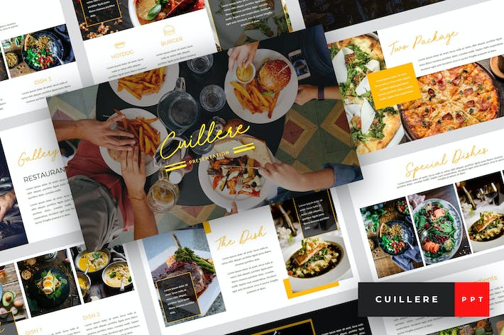 Thumbnail for Cuillere - Restaurant PowerPoint Template