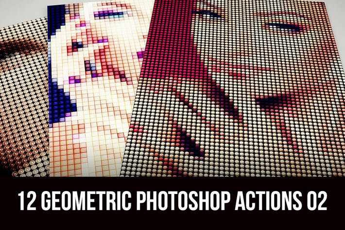 Thumbnail for 12 Geometric Photoshop Actions 02