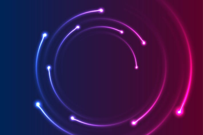 Thumbnail for Colorful neon spiral lines abstract background