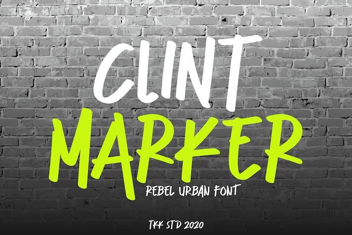 Thumbnail for Clint Marker - Pincel Graffiti Font