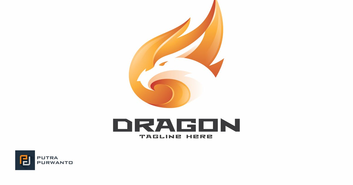Download Dragon Fire - Logo Template by putra_purwanto