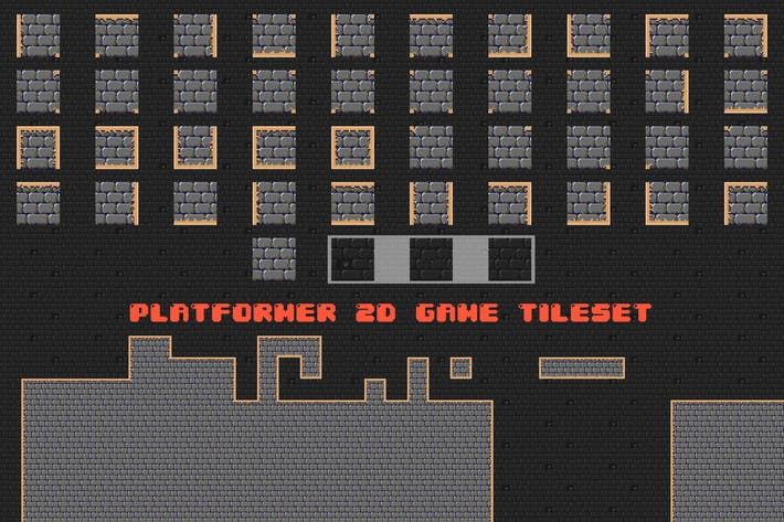 Thumbnail for Platformer 2D Game Tileset