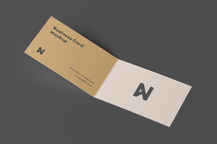 Thumbnail for Bi-Fold Business Card Mock-up 2