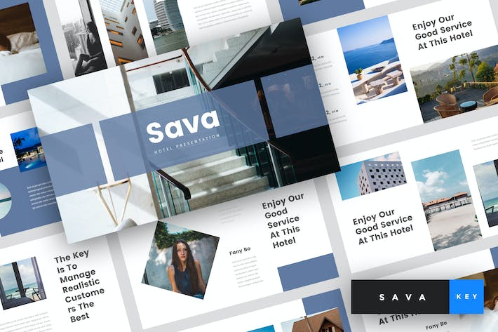 Thumbnail for Sava - Hotel Keynote Template