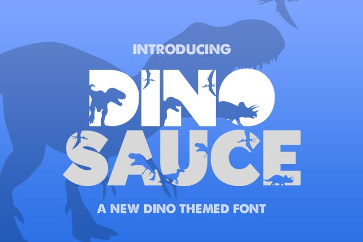 Thumbnail for Dinosauce Font