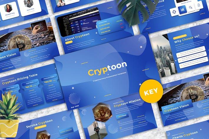 Cryptoon - Cryptocurrency Keynote Templates