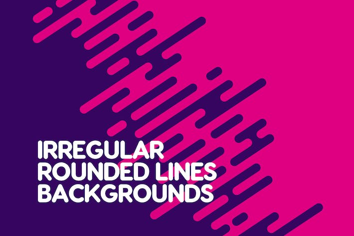 Thumbnail for Irregular Rounded Lines Backgrounds