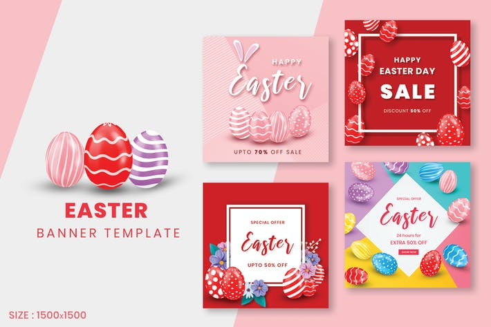 Thumbnail for Easter Sale Banner Template