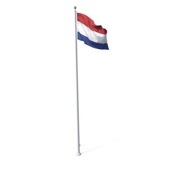 Flagge auf Pole Niederlande