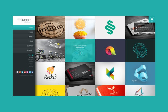Thumbnail for Kappe - Full Screen Portfolio & Blog PSD Template