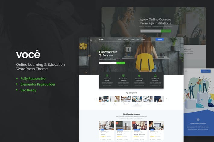 Thumbnail for Vocee - Education & LMS WordPress Theme
