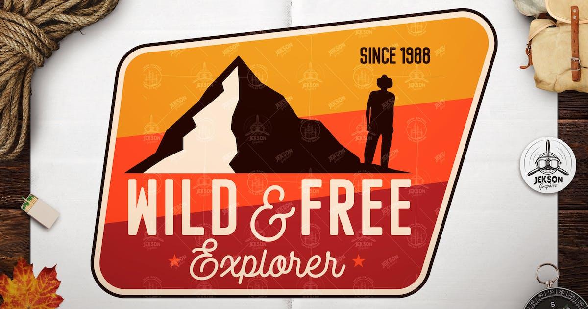 Download Wild Explorer Badge / Vintage Travel Logo Patch by JeksonJS