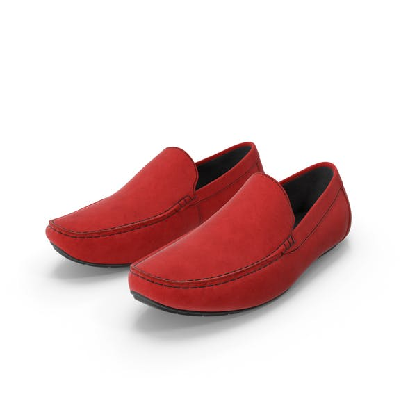 Thumbnail for Red Suede Driving Shoe Moccasins
