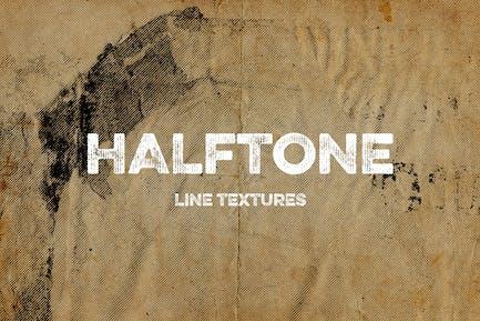 Halftone Linientexturen
