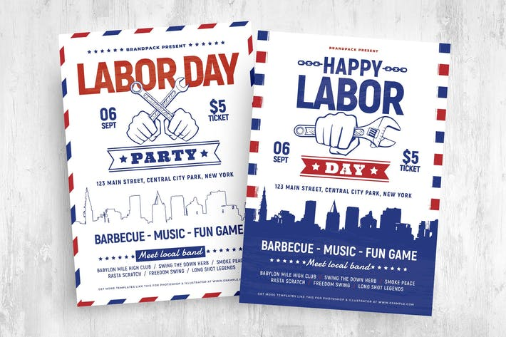 Labor Day Poster & Flyer Templates