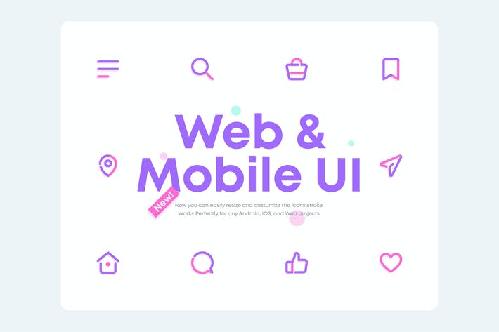 Thumbnail for UICONS 2.0 - Complete Web and Mobile UI Icons