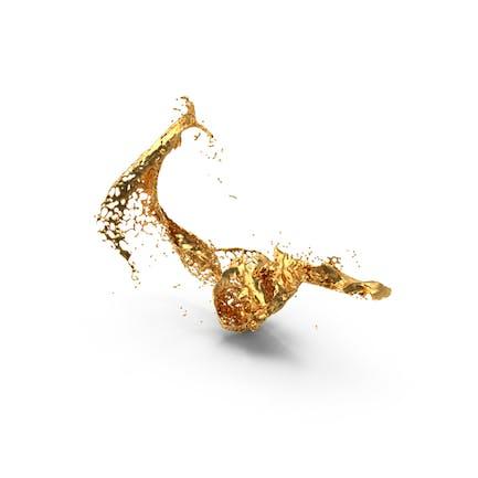 Salpicaduras de oro líquido