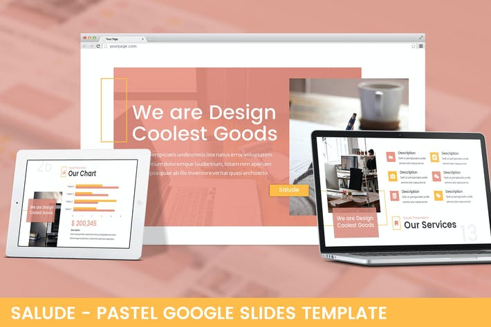 Thumbnail for Salude - Pastel Google Slides Template