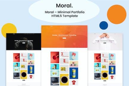 Moral - Minimal Portfolio HTML5 Template