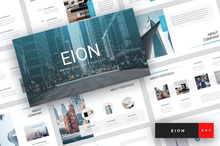 Cover Image For Eion - Corporate PowerPoint Template
