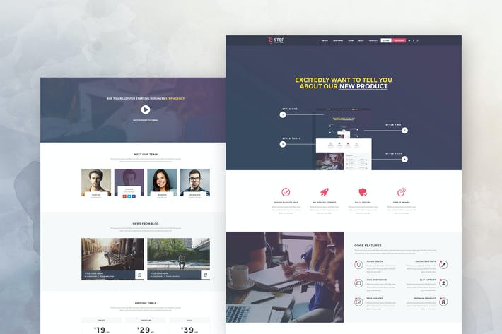 Cover Image For Step - Startup Landing Page Template